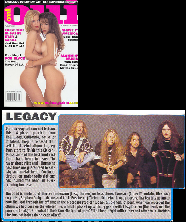 Legacy in OUI Magazine
