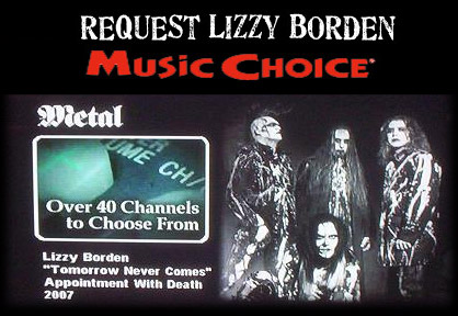 Request Lizzy Borden at Music Choice